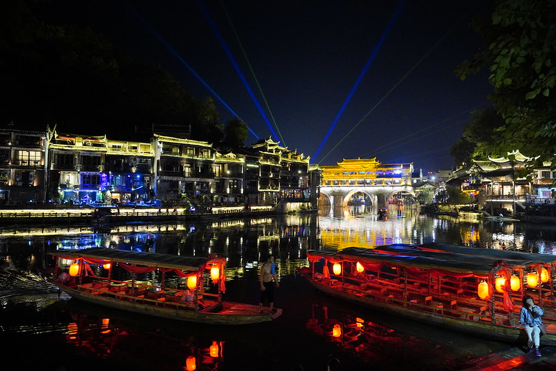 【大陸,湖南,湘西】鳳凰古城沱江夜太美。(Fenghuang Ancient City)