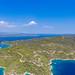 Luftbild von der Insel Spetses in Griechenland