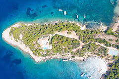 Small cape near Zogeria Beach on Spetses, Greece