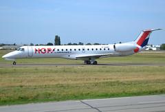 F-GUBC, Embraer ERJ-145MP, c/n 145556, HOP! for Airfrance, opb Regional (YS-RAE-Regional Europe), ORY/LFPO 2019-08-21, taxiway W47. (alaindurandpatrick) Tags: fgubc cn145556 erj erj145 embraer embraerregionaljet embraererj145 jetliners regionalairliners airliners regionaljetliners a5 hop hopforairfrance airhop airlines ys rae regionaleurope regionalairlines ory regional lfpo parisorly airports aviationphotography
