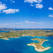Panoramic view of Peloponnese peninsula in Greece