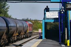 Watching the Watcher (JohnGreyTurner) Tags: br rail uk railway train transport barnetby lincolnshire lincs diesel engine locomotive freight 60 class60 tug db dbs dbc ews oil tanks