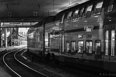 The Station (Ann Kunz) Tags: europe switzerland bern travel train blackandwhite people