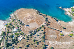 Ruins on Spetses island, Greece
