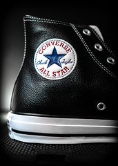 Converse, Hi-top, Leather. . . (CWhatPhotos) Tags: cwhatphotos flickr black leather converse all star chuck taylor hi top hitop boot chucks allstars stars132170c photographs photograph pics pictures pic picture image images foto fotos photography artistic that have which contain olympus