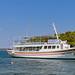 Ausflugsschiff zum Strand Zogeria auf Spetses, Griechenland