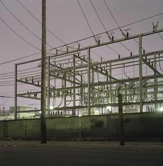 Power (ADMurr) Tags: la eastside power industrial substation rolleiflex 35 e zeiss planar fuji pro 400 dba602
