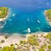 Yachts at Zogeria Bay on Spetses island, Greece