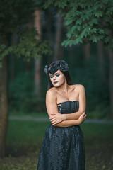 dark fairy crown (annaaayukhno) Tags: black nature festival dark swan witch magic gothic goddess fairy crown headdress headpiece fascinator