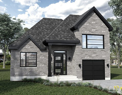 Modern house design 1 imaged in realistic 3D renderings and 3D visuals made by GOCAM 3D™, www.gocam.ca (GOCAM3D) Tags: gocam3d gocam go3d wow3d wwwgocamca house housing cottage realestate architecture construction exterior facade listing suburb design modern contemporary 2017 2018 2019 2020 landscaping driveway garage porch entrance door balcony roof windows window day daylight sun sunlight sky clouds cloud trees tree bushes bush bricks brick glass stones stone concrete pavement vinyl grass green blue grey charcoal black canada quebec montreal laval troisrivieres stjeansurrichelieu ottawa gatineau toronto edmonton banff vancouver 3dstudio 3dagency
