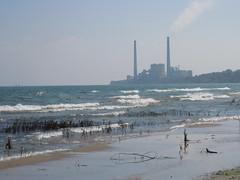 Hazy Lakeside (jadedirishgryphon) Tags: lakemichigan beach haze sheboygan wisconsin summer