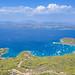 Zogeria Beach on Spetses island facing Peloponnese peninsula, Greece