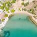 Luftbild vom Strand Hinitsa in Porto Heli, Griechenland