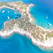 Aerial view of Hinitsa islet in Greece