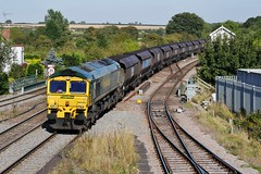 Loaded Coal for Steel (JohnGreyTurner) Tags: br rail uk railway train transport barnetby lincolnshire lincs diesel engine locomotive freight 66 class66 shed freightliner fl coal hoppers