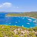 Luftbild vom nördlichen Teil der Insel Spetses in Griechenland