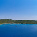 Panoramic view of the northern end of Spetses island, Greece