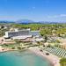 Aerial view of AKS Hinitsa Bay Resort in Porto Heli, Greece