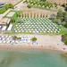 Private beach of AKS Hinitsa Bay Resort in Porto Heli, Greece