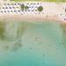 Schwimmbereich am AKS Hinitsa Bay Privatstrand in Porto Heli, Griechenland