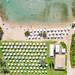 Bird's eye view of AKS Hinitsa Bay private beach in Porto Heli, Greece