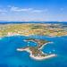 Aerial view of Peloponnese peninsula in Greece