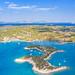 Luftbild der Halbinsel Peloponnes in Südgriechenland