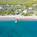 Agioi Anargyri Beach on Spetses island, Greece