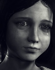 """""""Stay with me"""" (L1netty) Tags: theevilwithin theevilwithin2 tangogameworks bethesdasoftworks bethesda pc game gaming pcgaming videogame reshade screenshot virtual digital srwe 5k character lilycastellanos lily female girl people portrait closeup face eyes tiers blackandwhite monochrome bw"""