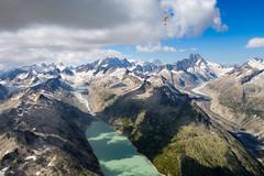 Obergoms - Wallis (highflyer1964) Tags: gebirge wallis landscape landschaft himmel berge sonydscrx100m2 paragliding alpen clouds gleitschirm schweiz luftaufnahme sport felsen wolken mountain