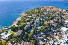 Luxury private houses near Mpaltizas Port on Spetses, Greece