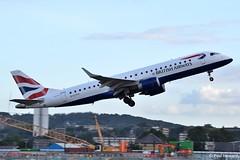 2019-08-29 LCY G-LCYV (Paul-H100) Tags: 20190829 lcy glcyv embraer emb190 ba cityflyer