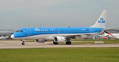 KLM PH-EXV (jamesEGGD) Tags: phexv klm royaldutchairlines embraer erj190 e190 man cityhopper