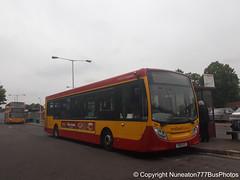 YX12AYZ 34 Midland Classic in Lichfield (Nuneaton777 Bus Photos) Tags: midland classic adl enviro 200 yx12ayz 34 lichfield