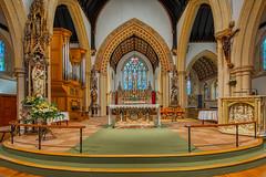 Wind-powered music machine (shadowed eyes) Tags: church cheltenham gloucestershire