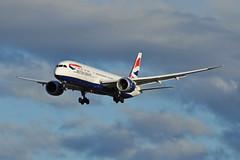 G-ZBKS (Rich Snyder--Jetarazzi Photography) Tags: britishairways speedbird baw ba boeing 787 7879 dreamliner b787 b789 gzbks landing sanjoseinternationalairport sjc ksjc sanjose california ca airplane airliner aircraft jet plane jetliner
