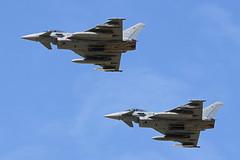 3050 & 3056 (QSY on-route) Tags: 3050 3056 german air force eurofighter typhoon cobra warrior 2019 raf waddington wtn egxw 18092019