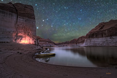 Friends (McKendrickPhotography.com) Tags: utah lakepowell stars nightscapeowater lake boat camping