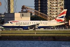2019-08-29 LCY G-LCYE (Paul-H100) Tags: 20190829 lcy glcye embraer emb170 ba cityflyer