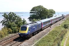 Still In Blue @ Powderham Bridge (crashcalloway) Tags: 43063 class43 hst highspeedtrain intercity125 diesel train shortset fgw firstgreatwestern powderhambridge exeestuary starcross devon westcountry westofengland railways