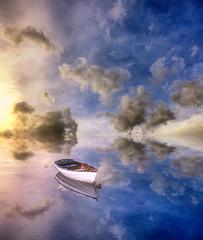 Mediterraneo (Gio_guarda_le_stelle) Tags: mediterraneo salvatores sea sky clouds artwork dream light waves boat seascape mare quiet peaceful
