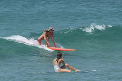 DSC02478 (slackest2) Tags: surfing surfboard surfer sea ocean waves water swell queensland coast longboard mal girlie girl coloundra