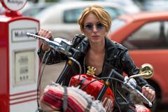 Queen (piotr_szymanek) Tags: martyna martynak woman young skinny portrait face eyesoncamera bike motorbike harleydavidson outdoor fotogenerator fg11 1k 20f 5k 50f
