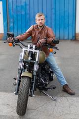 Motorbike (piotr_szymanek) Tags: marcin marcinb portrait face bike motorbike harleydavidson outdoor fotogenerator fg11 fq 1k 5k