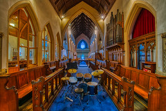 The pipes and drums of St Luke's (shadowed eyes) Tags: church cheltenham gloucestershire