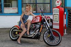 Refuel! (piotr_szymanek) Tags: anna annal woman young skinny portrait face bike motorbike harleydavidson outdoor legs fotogenerator fg11 1k 20f 50f 5k 10k