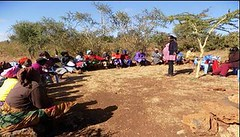 Kenya Tigania - Talk on storing treated water for drinking (Growing Hope Globally) Tags: growing hope globally world renew ads mt kenya east humanitarian charity food security farmers men women children families drough drip irrigation mulching income tomatoes kale conservation agriculture