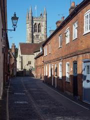 Church Lane Farnham-G9181967 (tony.rummery) Tags: church em10 farnham lamp mft microfourthirds omd olympus standrews street surrey town england unitedkingdom