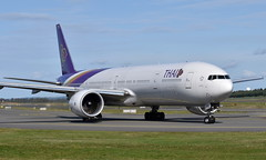 Thai HS-TKZ, OSL ENGM Gardermoen (Inger Bjørndal Foss) Tags: hstkz thai boeing 777 osl engm gardermoen