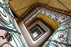 Hamburg stairs (petra.foto busy busy busy) Tags: treppenhaus treppe treppengeländer stairs vonoben kontorhaus hamburg germany architektur fotopetra